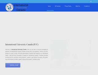 iuc-edu.ca screenshot