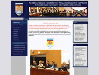 iufs.edu screenshot