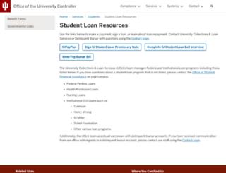 iuloans.iu.edu screenshot
