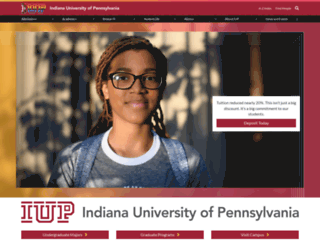 iup.edu screenshot