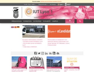 iut-a.univ-lyon1.fr screenshot