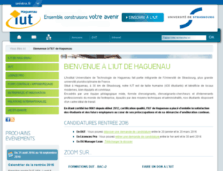 iuthaguenau.u-strasbg.fr screenshot