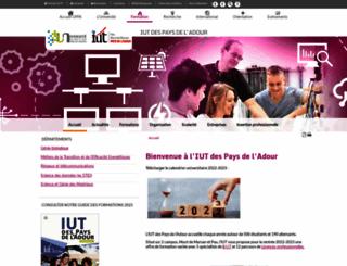 iutpa.univ-pau.fr screenshot