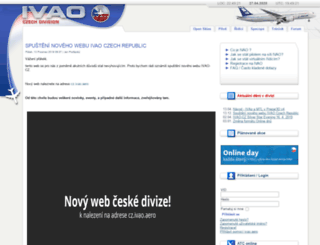 ivao.cz screenshot