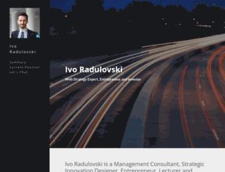 ivo-radulovski.strikingly.com screenshot