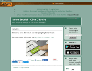 ivoiremploi.ivoire-blog.com screenshot