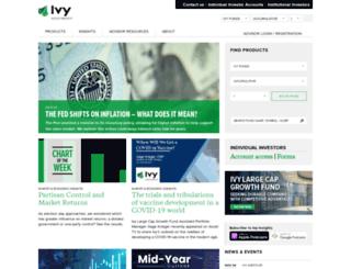 ivyfunds.com screenshot