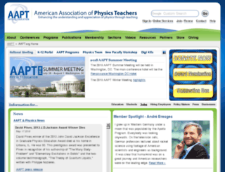 iweb.aapt.org screenshot