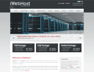iwebhostindia.com screenshot