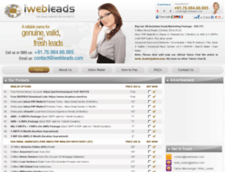 iwebleads.com screenshot