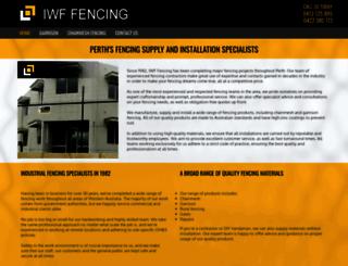 iwffencing.com.au screenshot