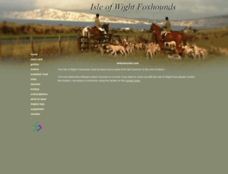 iwfoxhounds.com screenshot