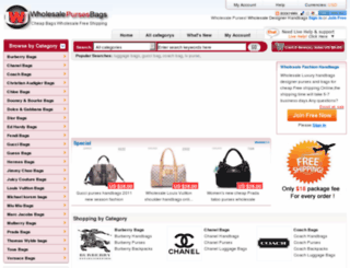 iwholesalebags.com screenshot