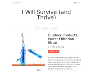 iwillsurvive.myshopify.com screenshot