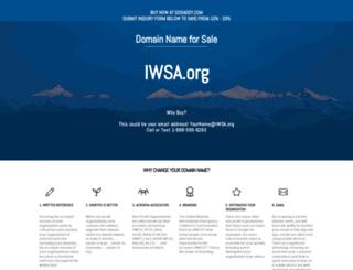 iwsa.org screenshot
