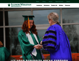 iwu.edu screenshot