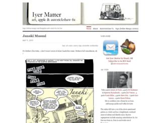 iyermatter.wordpress.com screenshot