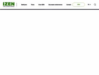 izen.be screenshot