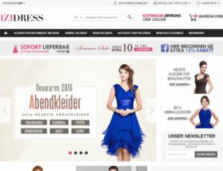 izidress.de screenshot