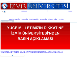 izmir.edu.tr screenshot