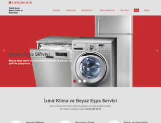 izmirbeyazesyaklimaservisi.com screenshot