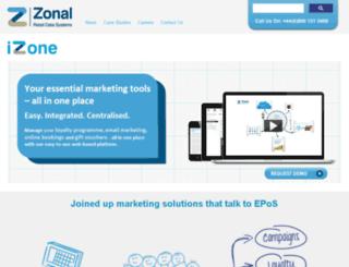 izone.zonal.co.uk screenshot