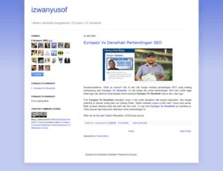 izwanyusof.blogspot.com screenshot