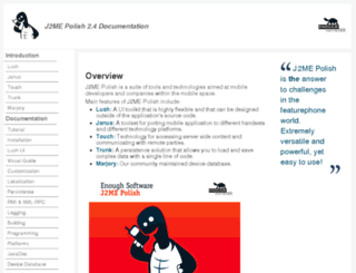 j2mepolish.org screenshot
