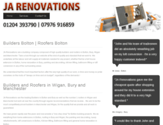 ja-renovations.co.uk screenshot