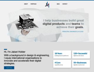 jabari-holder.com screenshot
