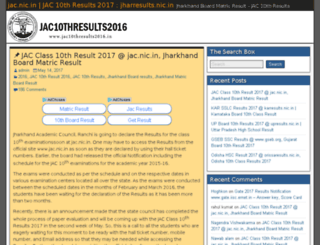 jac12thresults2016.in screenshot