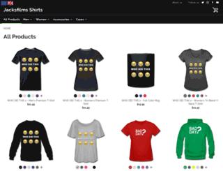 jacksfilms.spreadshirt.com screenshot