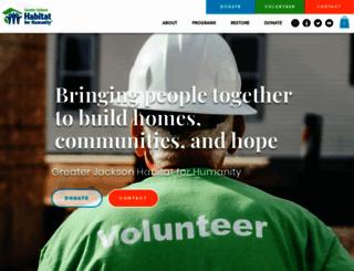 jacksonhabitat.org screenshot