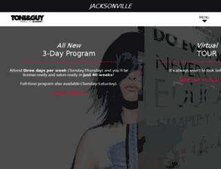 jacksonville.toniguy.edu screenshot