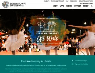 jacksonvilleartwalk.com screenshot