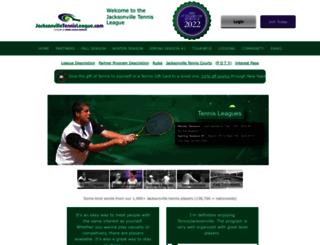 jacksonvilletennisleague.com screenshot
