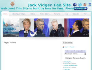 jackvidgenfansite.webs.com screenshot
