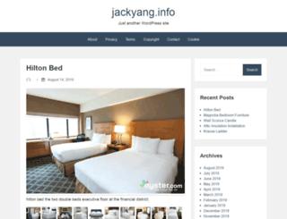 jackyang.info screenshot