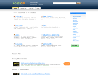 jacobabad.chaosads.pk screenshot