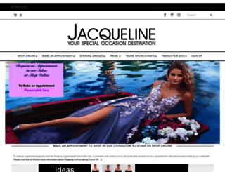 jacquelineeveningwear.com screenshot