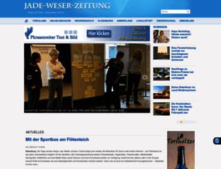 jade-weser-zeitung.de screenshot