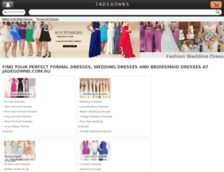 jadegowns.com.au screenshot