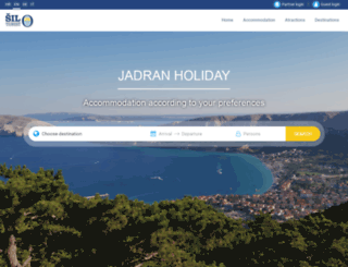 jadran-holiday.com screenshot