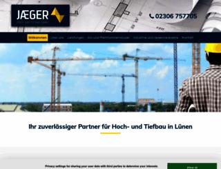 jaeger-hochundtiefbau.de screenshot