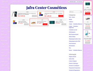 jafracenter.loja2.com.br screenshot
