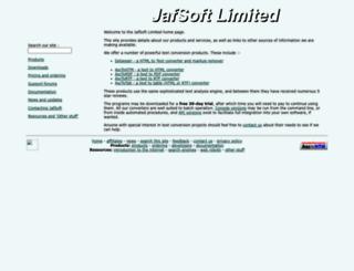 jafsoft.com screenshot