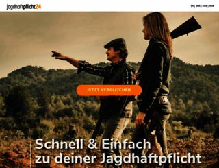 jagdhaftpflicht24.com screenshot