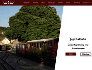 jagsttalbahn.de screenshot