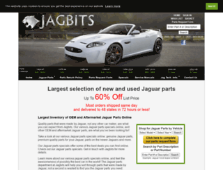 jaguar-parts.jagbits.com screenshot