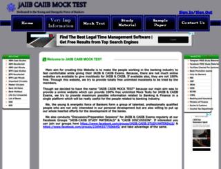 jaiibcaiibmocktest.com screenshot